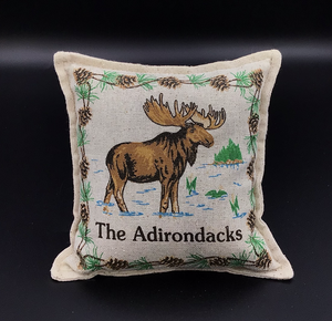 "moose Pattern Pillow 6"" x 6"""